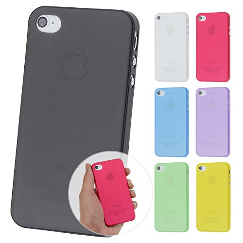 doupi UltraSlim Case iPhone 4 4S fin mat ultra mince et ultra léger Bumper Cover Housse de Protection Shell Coque - bleu Violet
