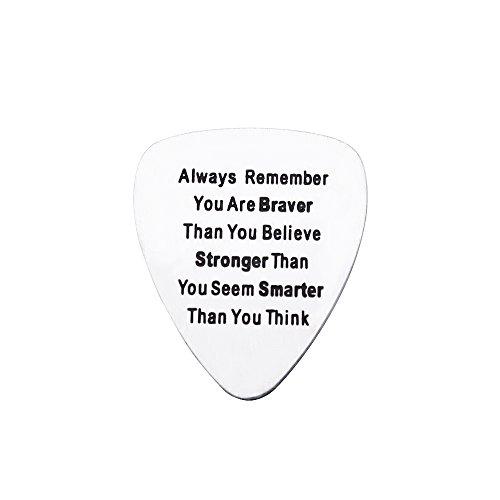 Gitarre Plektrum Geschenk–Always Remember Aufschrift You Are Braver/Stronger/Schlauer als Sie Think (Die Besten Halloween-musik Immer)