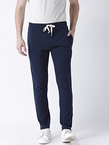 Club York Men's navy blue solid regular fit track pant