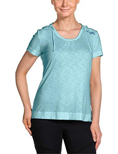 Jack Wolfskin Damen Shirt Travel Hoody T Women Aquatic Blue