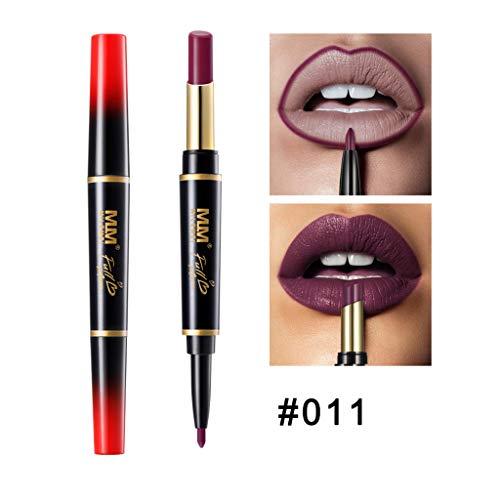 Lippenstift,Double-End Dauerhafte Lipliner Wasserdichte Lipliner Stick Pencil 16 Farbe Sleek Sticks Collection