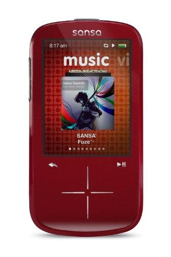 SanDisk Sansa Fuze+ 4GB MP3-Player (rot) Sansa Converter