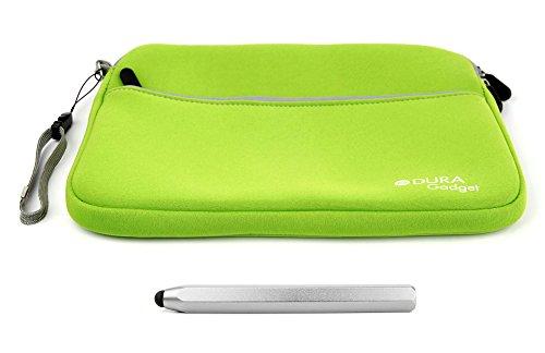 2 in 1 Paket: Grüne Schutz-Tasche und silberner Touchscreen-Eingabestift für Vtech Storio Max 7 Zoll Kinder-Tablets