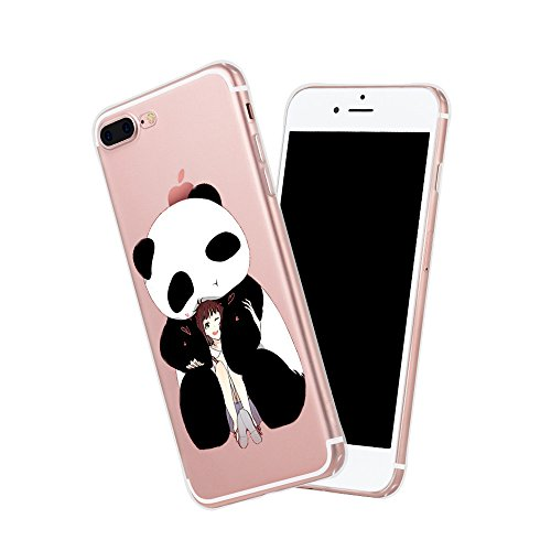 Custodia iPhone 7 Puls Cover, iPhone 7 Puls Clear Soft TPU Protective Case Back Cover with Cute Cartoon Pattern [Slim Fit] [Ultra Thin] for 5.5 inches iPhone 7 Puls (7) 2