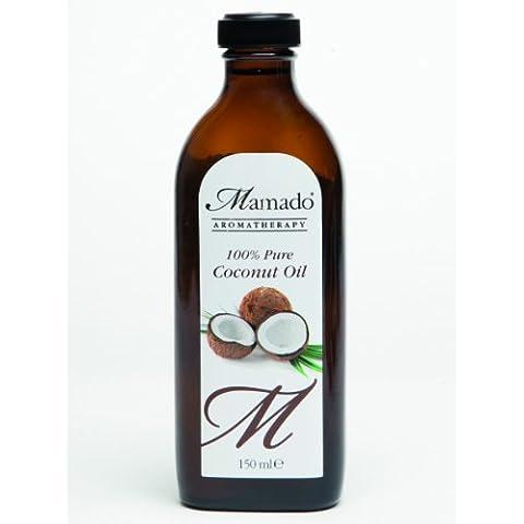 Mamado Aromatherapy puro olio di cocco 100% (150 ml)