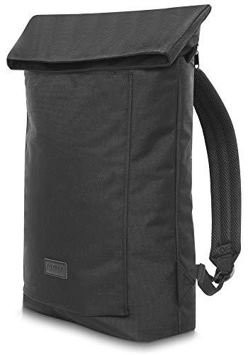 AMMA Bags Rolltop Rucksack mit innovativem Rolltop Effekt | reißfester + wasserabweisender Tagesrucksack | Damen und Herren Rucksack
