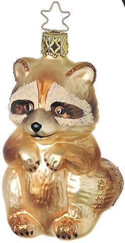 Inge-glas 85104606 Waschiger Waschbär, 9.5 cm, 1 Stück /Box Glasornament, mundgeblasen und handbemalt