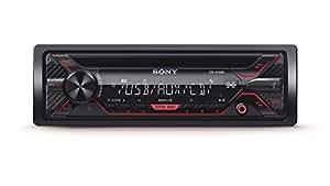Sony CDXG1200U Autoradio con Lettore CD, MP3, USB, Aux, Potenza Massima di Uscita 4x 55 W, Rosso