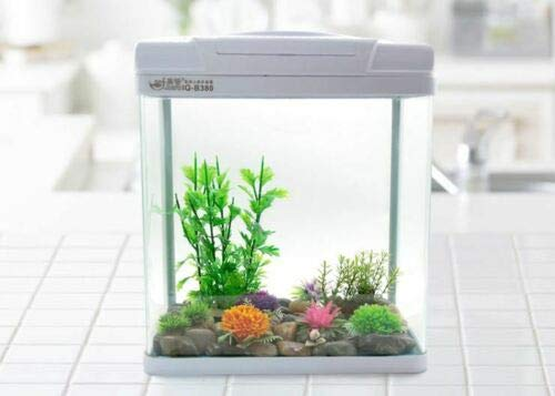15L Complete Aquarium Fish Tank with Filtration and Integrated LED Light – Cabinet/Stand Available As An Extra (15L, Black, No Stand)