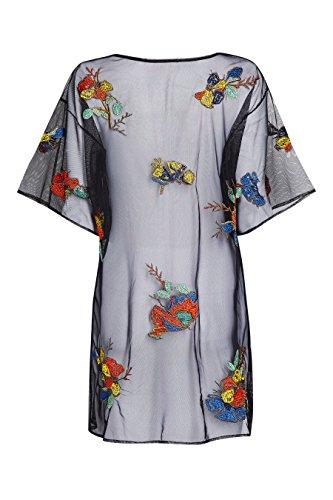next Robe en mesh brodée Petite Femme Multicolore