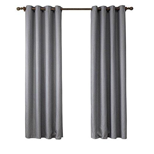 TSJT Schlafzimmer Blackout Ösen Vorhänge Paar Luxus isoliert (braun) Ring Top für Kinderzimmer Kinderzimmer Jalousien Wärme Gain Sunlight Rauschunterdrückung mit , grey , 135*240cm