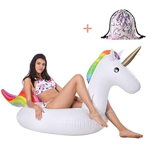 Lady of Luck Flotador Unicornio, Jugar En La Playa y Usted con Pileta Disfrute Agradables Vacaciones Familia y Hijos