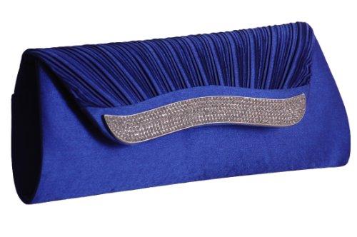 EyeCatchBags - Impress Damen Clutch Handtäschchen Partytäschchen Handtasche Royal Blau