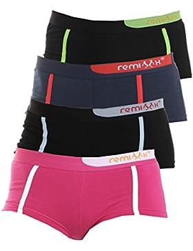Remixx Girls Pants 4er Pack Stretch Baumwolle Farbmix