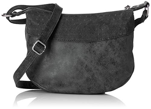 s.Oliver (Bags Damen City Bag Umhängetasche, Schwarz (Black), 7x29x29 cm -