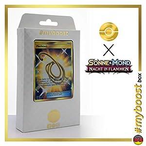 Fluchtseil (Cuerda Huida) 163/147 Entrenadore Secreta - #myboost X Sonne & Mond 3 Nacht in Flammen - Box de 10 Cartas Pokémon Aleman