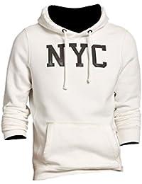 Abercrombie - Homme - New York Graphic Hoodie Sweat à Capuche Sweatshirt - Manche Longue