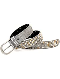 Kandharis Nietengürtel Gürtel Damen im Vintage Optik Nieten kürzbar LG-N7