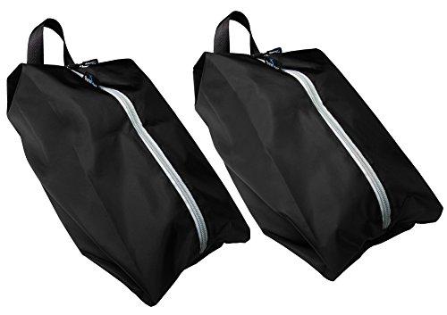 TRAVANDO ® Schuhtasche 2er Set | Wasserfeste Schuhbeutel Reise, Koffer, Gepäck | Schmutzabweisender Schuhsack Reise für Schuhe, Urlaub Shoebag Tasche zur Trennung von Schuhen und Kleidung Reisezubehör