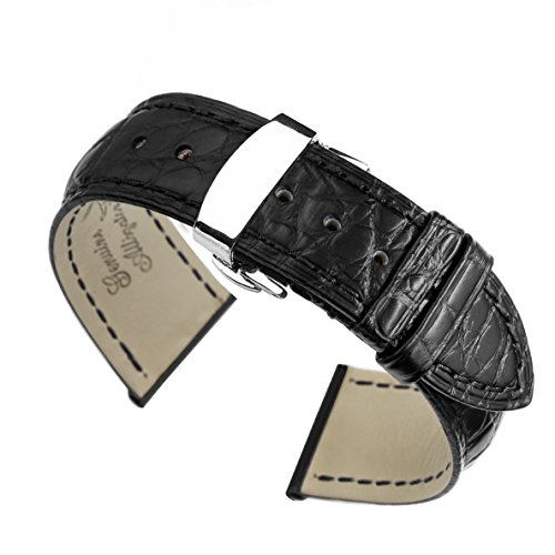 20mm-black-high-end-crocodile-leather-watch-straps-bands-replacement-handmade-for-luxury-watches