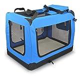 Zooprimus Cage de transport pour chien caisse de transport mobile Sac pliable et transportable 90 x 61 x 65 cm Taille XXL Bleu 13