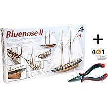 Artesania Latina 22453. Maqueta de barco en madera. Goleta de pesca canadiense Bluenose II. Escala 1/75 + Multiherramienta 4 en 1