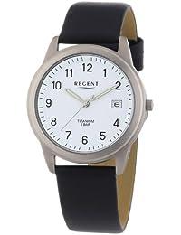 Regent Herren-Armbanduhr XL Analog Quarz Leder 11190095