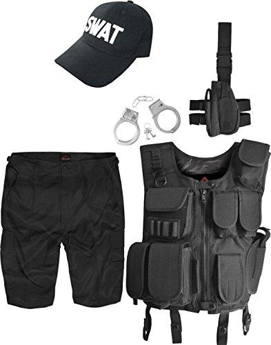 Swat Kostüm Lustig (SWAT Kostüm inkl. Einsatzweste, BDU Short, Holster, Handschelle und Cap Größe)