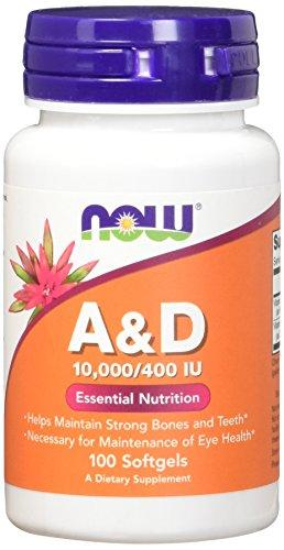 Now Foods Vitamin A & D, 100 Sgels 10000/400