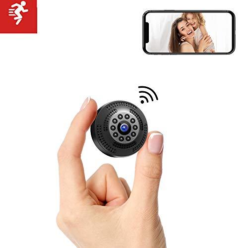 Victure Mini Telecamera Spia FHD 1080P Microcamera Spia Bottone Videocamera Nascosta con Visione Notturna Video Registratore Sorveglianza con Allarme di Movimento Portatile Batteria.