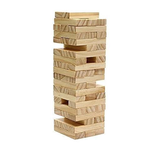 Tumbling Wood-Block Tower 48 wooden Mini blocks stack them and