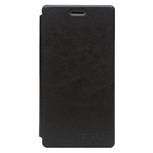 Guran® PU Leder Tasche Etui für UMI Fair Smartphone (Keine Innenschale) Flip Cover Stand Hülle Case-schwarz