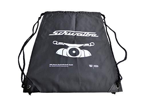 Preisvergleich Produktbild BISOMO Set Sportbeutel Rucksack Retro Simson Motiv Schwalbe Front schwarz,  mit Kordelzugverschluss von MZA