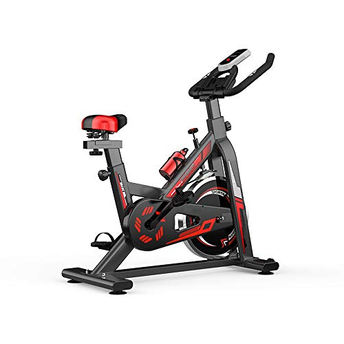 DRLGC Extrem leises Spinning-Bike, Pedalsport-Bike, neues schweres 18-kg-Schwungrad-Aerobic-Studio-Trainingsbike. Home Fitness Gym LED-Anzeige