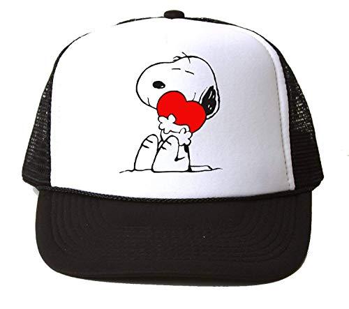 PasTomka Happy Snoopy with Heart Baseball Cap Unisex Mütze Kappe One Size (Charlie Happy Brown Birthday,)
