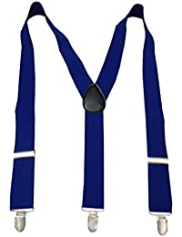 Navaksha Royal Blue Y-Back Solid Adjustable Suspender