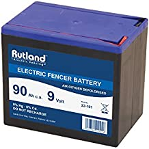 Rutland 22-101R Batterie sèche pour électrificateur de clôture - 9 V 90 Ah