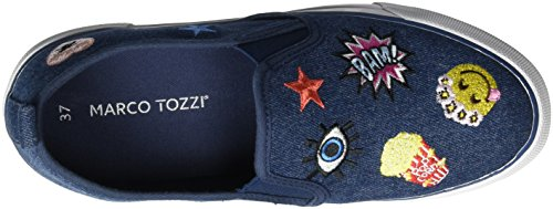 Marco Tozzi Damen 24618 Slipper Blau (Jeans Comb 811)