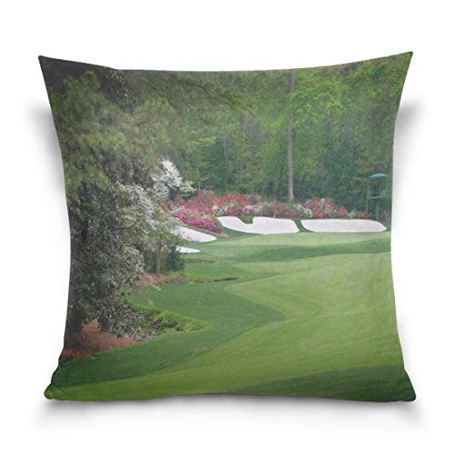 Augusta Amen Corner Golf Throw Pillows Covers Accent Home Sofa Car Cushion Cover Pillowcase Gift Decorative 18X18 inch