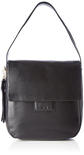 BREE Damen Jersey Umhängetasche, Schwarz (Black), One Size -