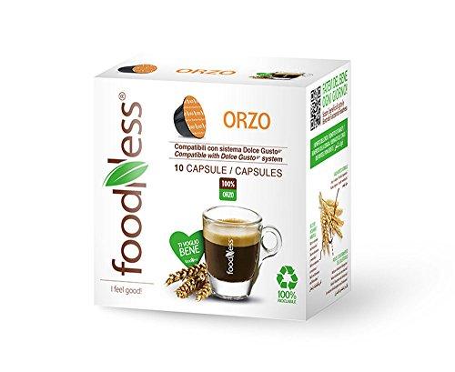 Foodness Capsula Orzo solubile compatibile Dolcegusto - 5 Confezioni da 10 Capsule [Tot. 50 Capsule]