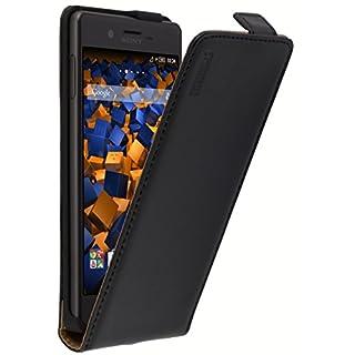 mumbi PREMIUM Leder Flip Case für Sony Xperia X Tasche