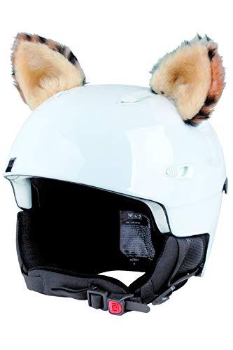 Crazy Ears Helm-Accessoires Ohren Katze Tiger Lux Frosch, Ski-Ohren geeignet für Skihelm, Motorradhelm, Fahrradhelm und vieles mehr. Helm Dekoration für Kinder und Erwachsene, CrazyEars:Luchs Ohren