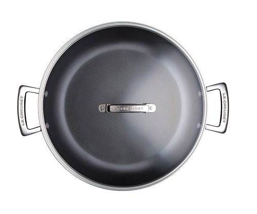 Le-Creuset-Les-Forges-Aluminium-Sauteuse-2-poignes-Couvercle-30-cm-96200230000400