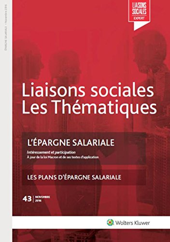 L'épargne salariale par Dominique Jourdan, Aline Chapelle