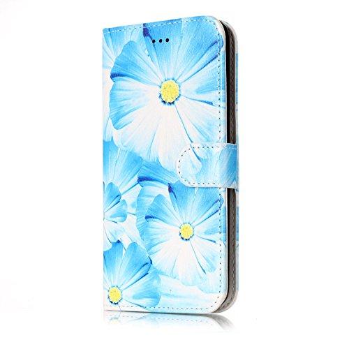 Samsung Galaxy J7 2016 Custoida in Pelle Portafoglio,Samsung Galaxy J7 2016 Cover Pu Wallet,KunyFond Lusso Moda Marmo Dipinto Leather Flip Protective Cover con Bella Modello Cover Custodia per Samsung orchidea