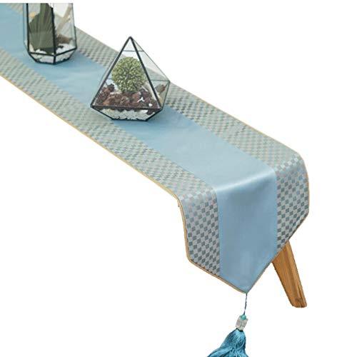 FJH Chemin de table Marque tableau drapeau mélange bleu mode simple lit café nordique mariage hôtel banquet 30 cm * 180 cm (taille : 180cm)