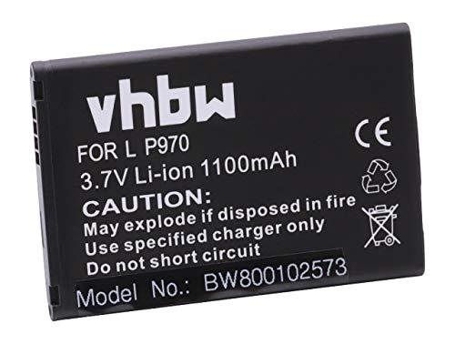 vhbw Li-Ion Akku 1100mAh (3.7V) für Handy, Smartphone, Telefon LG Optimus Pro, Slider LS700, Sol E730, Univa wie BL-44JN. - Lg-optimus Slider-batterie