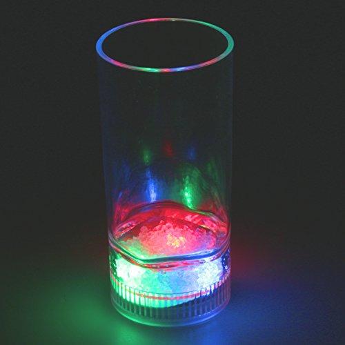 LED Trinkglas, Cocktailglas, Longdrink 350 ml mit Farbwechsel, multicolor, bunt leuchtend - Daniels Jack Lichter
