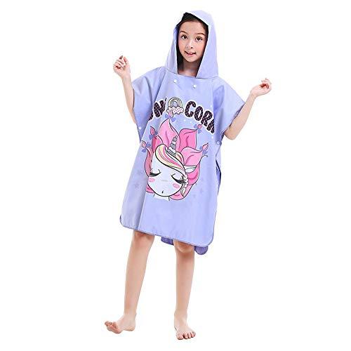 Poncho Enfants Change Serviette de poncho enfant pour serviette à capuchon de bain de piscine de plage, serviette de séchage rapide en microfibre pour enfant, peignoir pour filles, garçons Poncho à ma